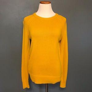 Yellow Knit Crewneck Sweater